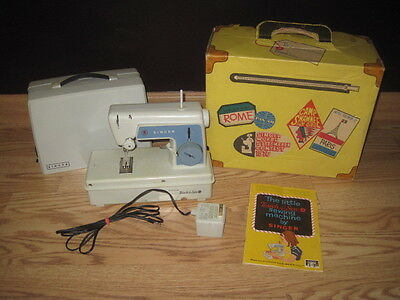 Vintage Singer Little Touch & Sew Sewing Machine Original Box & Carrying Case