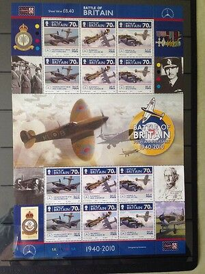 "Isle Of Man 2010 ""Battle Of Britain"" Sheet, MNH"