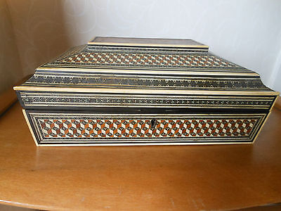 Lovely Vintage / Antique Anglo Indian Inlaid Work Box - *A/F*