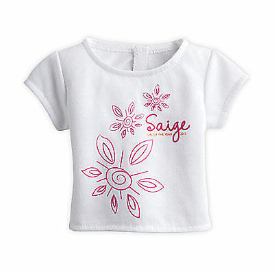 "American Girl LE SAIGE FLORAL TEE for 18"" Dolls Shirt Clothes Limited Edition"