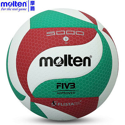 Volleyball Ball Molten Size Indoor Outdoor Official Game Ball Leather Soft Touch