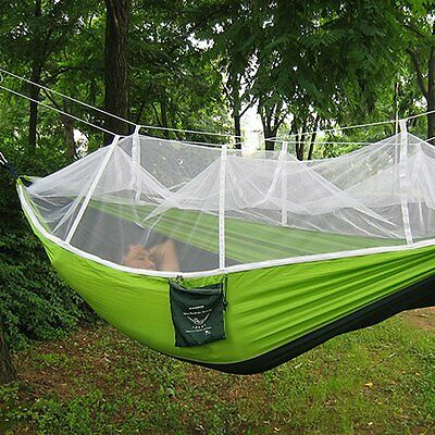 Hammock Parachute Portable Mosquito Net Fabric Bed Outdoor Hanging Swing Travel