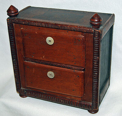 Antique GARFIELD & ARTHUR Salesman Miniature Dresser Folk Tramp Art President