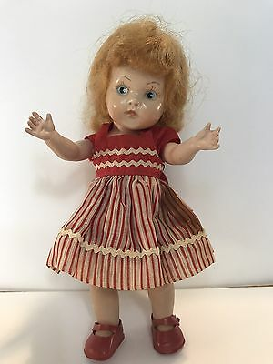 Vintage Vogue Ginny Doll Strawberry Blonde hair w/painted Blue Eyes