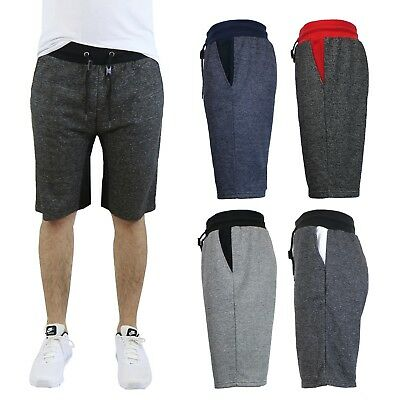 Men's Slim Fit Marled French Terry Shorts 2 Pack - great for Sports, Work Out