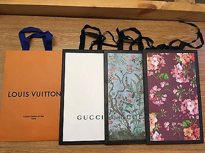 Authentic Gucci and Louis Vuitton Shopping Bags