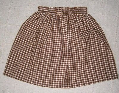 Vintage Ladybird Skirt - Age 4 - 104 cm - Brown Check - Acrylic/Wool Mix - New