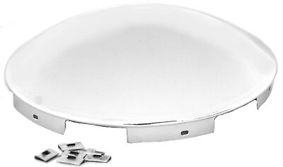hub caps(2) 6 even notches chrome dome for Peterbilt KW Freightliner steel wheel
