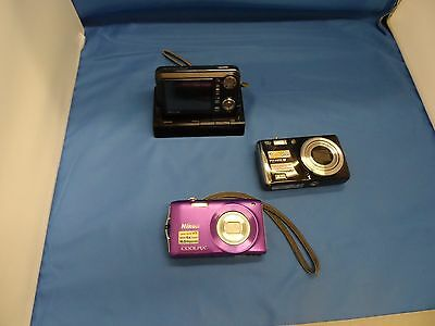 Lot of Digital Cameras, FOR PARTS OR REPAIR.