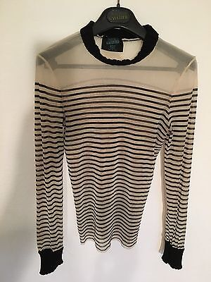 Gaultier Sailor Tattoo Top With Knit Trim