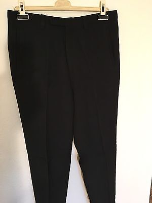 Gaultier Black Flat Front Trousers