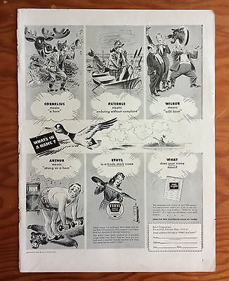 "1942 ETYHL CORPORATION Print Ad, ""What's in a Name?"""