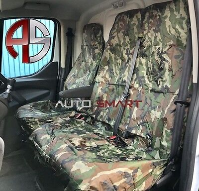 Renault Trafic Lwb Camouflage Dpm Camo Seat Covers Green Waterproof 2+1