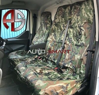 Renault Trafic Crew Camouflage Dpm Camo Seat Covers Green Waterproof 2+1