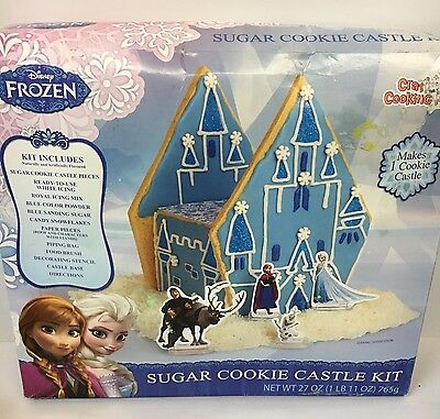 Disney Frozen Sugar Cookie Castle Kit Party Birthday Holiday 8/17 Exp NEW
