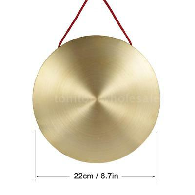 22cm Hand Gong Cymbals Brass Copper Opera Percussion Instruments for Kids Q6W0