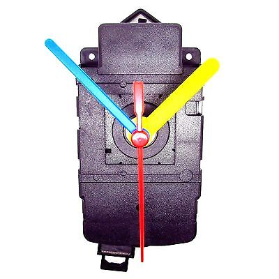 5 Pack Quartz Clock Pendulum Drive Unit With Movement Mechanism & Coloured Hands