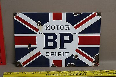Vintage Motor Bp Spirit Porcelain Sign Gas Oil Car Truck Station Service
