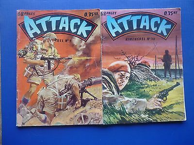Editions IMPERIA  :   ATTACK  N° 9 & 30   -   TBE