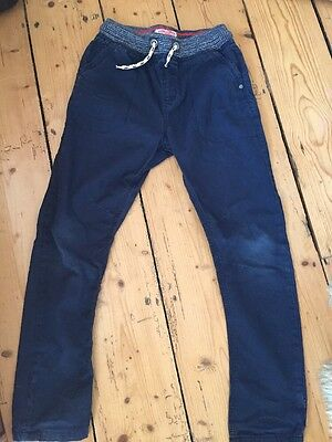 Boys Next pull on navy trousers age 10 years