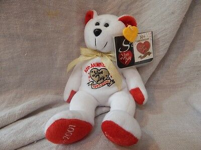 "Vintage ""I Love Lucy"" Beanie Bear 50th Anniversary"