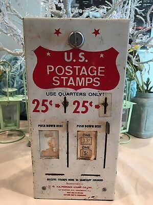 25 cent 2 slot vintage postage stamp vending machine With Key