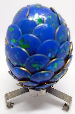 SMALL HANDMADE DRAGONS EGG aquamarine breeze 4 cm