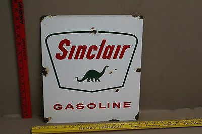 Vintage Sinclair Gasoline Porcelain Pump Sign Gas Oil Service Station Car Truck