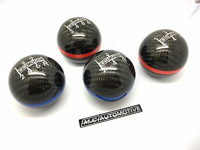 Mugen Style Carbon Fibre 6 Speed Red Line Gear Knob for Honda Nissan Toyota