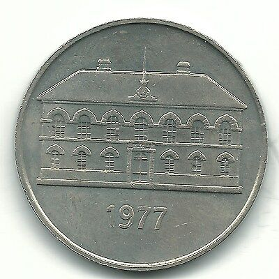 A High Grade 1977 Iceland 50 Kroner Coin-Jan658