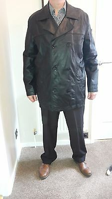 Men's  Next Black Leather Jacket Size Xl
