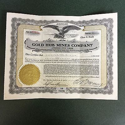 ines Company Stock Certificate From 1939