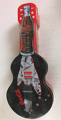 Coca Cola Metal Tin Collectible Guitar
