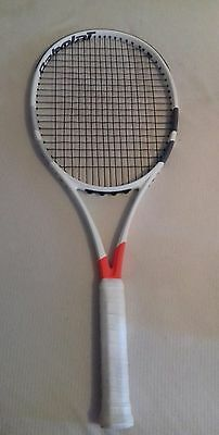 Superb (barely used)Babolat Pure Strike 16x19 tennis racket (grip 4)