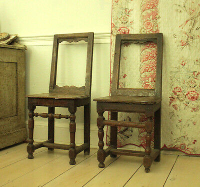 Pair of 18th Century French Oak Chairs