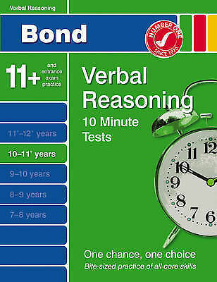 Bond 10 Minute Tests 10-11 Years: Verbal Reasoning by Frances Down (Pamphlet, 2…
