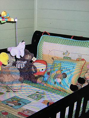 Living Textiles ABC Cot Set - Sheets, Quilt, Pillows, Head Bumper