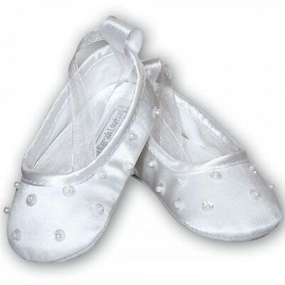 Was £25 Sarah Louise Baptism Girls shoes White 0-4 Months