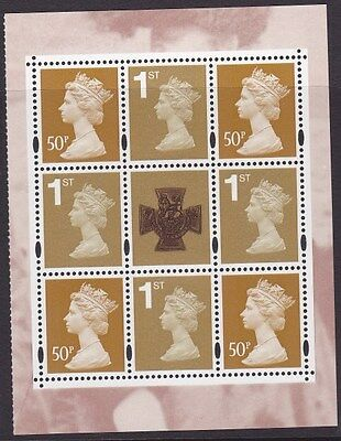 GB stamps VICTORIA CROSS Definitive pane MNH from DX37 Prestige Booklet 2006
