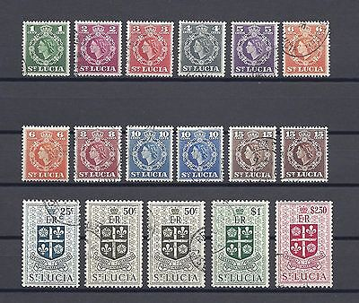 ST LUCIA 1953-63 SG 172/84 USED Cat £22