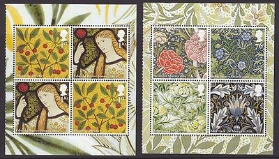 GB stamps WILLIAM MORRIS 2 panes MNH from DY1 Prestige Booklet 2011