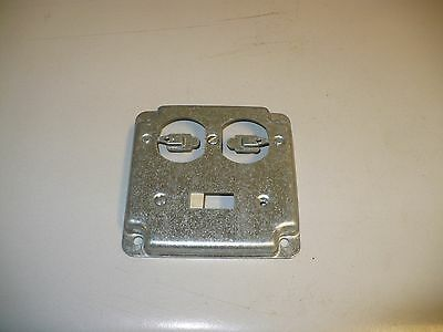 1 pc. Thomas & Betts RS 2 2-Gang Square Metal Electrical Box Cover, New