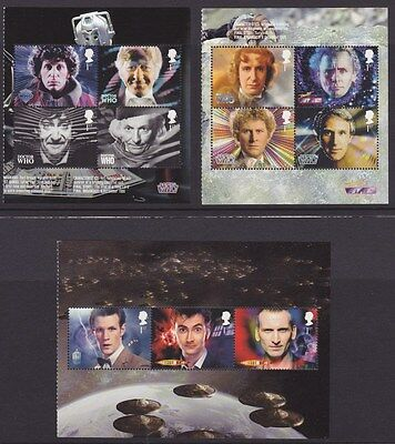 GB stamps DR WHO 3 panes MNH from DY6 Prestige Booklet 2013