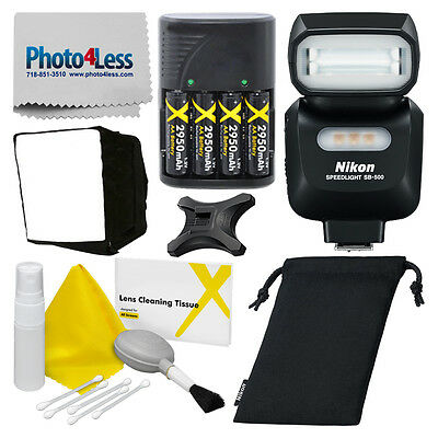 Nikon SB-500 AF Speedlight Flash for Nikon DSLR + Deluxe Accessory Bundle!