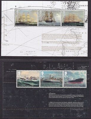 GB stamps MERCHANT NAVY 2 panes MNH from DY8 Prestige Booklet 2013