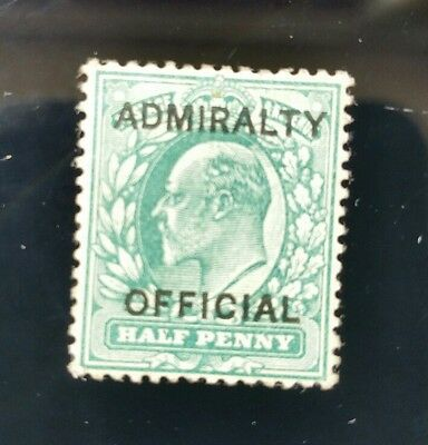 1902 1/2d Blue-Green Mounted Mint  With Admiralty Official Over Print very fine