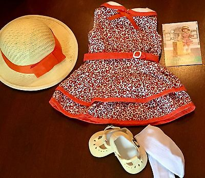 American Girl Kit Scooter Outfit Hat Shoes Complete Trading Card