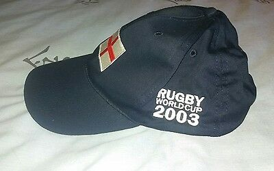 New. Rugby World Cup 2003 Navy Blue Baseball Cap. Adjustable Strap.