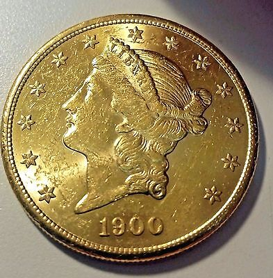 1900-S $20 U.S. Gold Liberty Double Eagle Coin