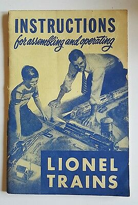 """1950 LIONEL TRAINS """"Instructions for Assembling and Operating"""" booklet -complete"""